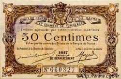 50 Centimes FRANCE régionalisme et divers LE HAVRE 1917 JP.068.17 TTB à SUP