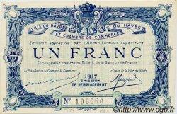 1 Franc FRANCE régionalisme et divers LE HAVRE 1917 JP.068.18 SPL à NEUF