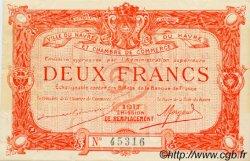 2 Francs FRANCE régionalisme et divers Le Havre 1917 JP.068.19 TTB à SUP