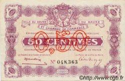 50 Centimes FRANCE régionalisme et divers Le Havre 1920 JP.068.20 TTB à SUP