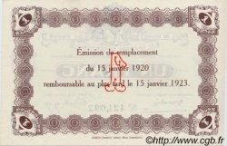 1 Franc FRANCE régionalisme et divers Le Havre 1920 JP.068.22 SPL à NEUF