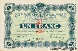 1 Franc FRANCE régionalisme et divers Le Havre 1920 JP.068.22 TTB à SUP
