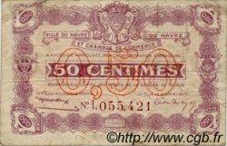 50 Centimes FRANCE régionalisme et divers Le Havre 1920 JP.068.26 TB