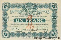 1 Franc FRANCE régionalisme et divers Le Havre 1920 JP.068.28 SPL à NEUF
