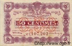 50 Centimes FRANCE régionalisme et divers Le Havre 1920 JP.068.32 TTB à SUP