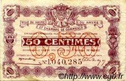 50 Centimes FRANCE régionalisme et divers Le Havre 1920 JP.068.32 TB