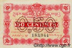 50 Centimes FRANCE régionalisme et divers LE HAVRE 1922 JP.068.33 TTB à SUP