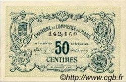 50 Centimes FRANCE régionalisme et divers LE MANS 1915 JP.069.01 SPL à NEUF