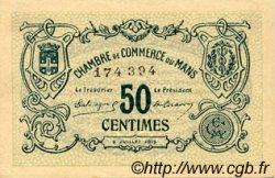 50 Centimes FRANCE régionalisme et divers LE MANS 1915 JP.069.01 TTB à SUP
