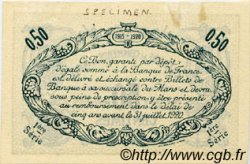 50 Centimes FRANCE régionalisme et divers Le Mans 1915 JP.069.02 TTB à SUP
