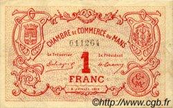 1 Franc FRANCE régionalisme et divers LE MANS 1915 JP.069.05 TTB à SUP