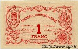 1 Franc FRANCE régionalisme et divers Le Mans 1915 JP.069.06 TTB à SUP