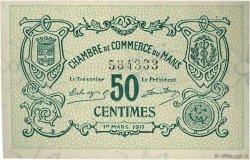 50 Centimes FRANCE régionalisme et divers LE MANS 1917 JP.069.09 SPL à NEUF
