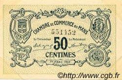 50 Centimes FRANCE régionalisme et divers LE MANS 1917 JP.069.09 TTB à SUP