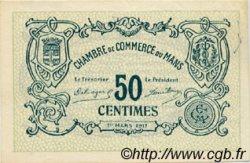 50 Centimes FRANCE régionalisme et divers LE MANS 1917 JP.069.10 TTB à SUP