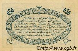50 Centimes FRANCE régionalisme et divers LE MANS 1917 JP.069.11 SPL à NEUF
