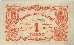1 Franc FRANCE régionalisme et divers LE MANS 1917 JP.069.12 SPL à NEUF