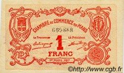 1 Franc FRANCE régionalisme et divers LE MANS 1917 JP.069.12 TTB à SUP