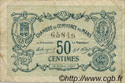 50 Centimes FRANCE régionalisme et divers LE MANS 1920 JP.069.16 TB