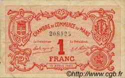 1 Franc FRANCE régionalisme et divers LE MANS 1920 JP.069.18 TTB à SUP