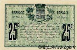 25 Centimes FRANCE régionalisme et divers LE MANS 1922 JP.069.20 SPL à NEUF