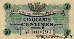 50 Centimes FRANCE régionalisme et divers LE PUY 1916 JP.070.05 SPL à NEUF