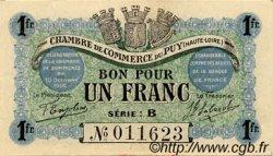1 Franc FRANCE régionalisme et divers Le Puy 1916 JP.070.06 TTB à SUP