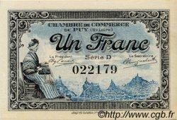 1 Franc FRANCE régionalisme et divers Le Puy 1916 JP.070.09 SPL à NEUF