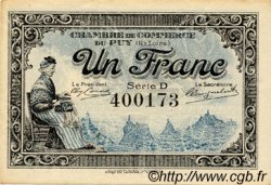 1 Franc FRANCE régionalisme et divers LE PUY 1916 JP.070.09 TTB à SUP