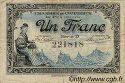 1 Franc FRANCE régionalisme et divers Le Puy 1916 JP.070.09 TB