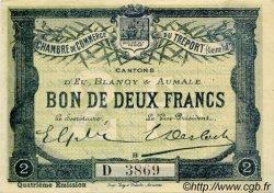 2 Francs FRANCE régionalisme et divers Le Tréport 1916 JP.071.15 TTB à SUP