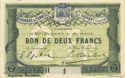 2 Francs FRANCE régionalisme et divers LE TRÉPORT 1916 JP.071.30 SPL à NEUF