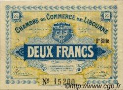 2 Francs FRANCE régionalisme et divers LIBOURNE 1915 JP.072.08 TTB à SUP