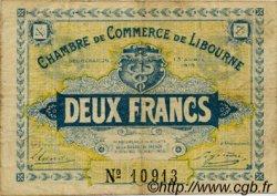 2 Francs FRANCE régionalisme et divers LIBOURNE 1915 JP.072.08 TB