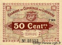 50 Centimes FRANCE régionalisme et divers Libourne 1915 JP.072.12 TTB à SUP
