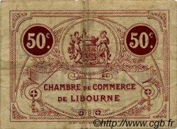 50 Centimes FRANCE régionalisme et divers LIBOURNE 1915 JP.072.12 TB