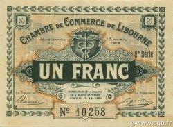 1 Franc FRANCE régionalisme et divers Libourne 1915 JP.072.13 SPL à NEUF
