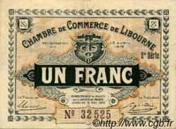 1 Franc FRANCE régionalisme et divers LIBOURNE 1915 JP.072.13 TTB à SUP