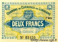 2 Francs FRANCE régionalisme et divers LIBOURNE 1915 JP.072.14 TTB à SUP