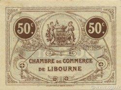 50 Centimes FRANCE régionalisme et divers Libourne 1915 JP.072.15 SPL à NEUF
