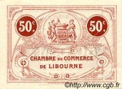 50 Centimes FRANCE régionalisme et divers Libourne 1917 JP.072.18 TTB à SUP