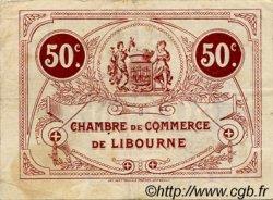 50 Centimes FRANCE régionalisme et divers LIBOURNE 1917 JP.072.18 TB