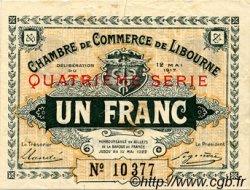 1 Franc FRANCE régionalisme et divers Libourne 1917 JP.072.19 TTB à SUP