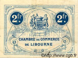 2 Francs FRANCE régionalisme et divers LIBOURNE 1917 JP.072.20 TTB à SUP