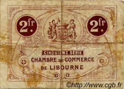 2 Francs FRANCE régionalisme et divers Libourne 1918 JP.072.27 TB