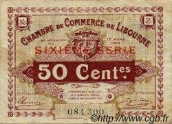 50 Centimes FRANCE régionalisme et divers Libourne 1920 JP.072.29 TTB à SUP