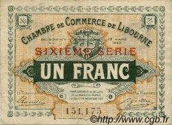 1 Franc FRANCE régionalisme et divers LIBOURNE 1920 JP.072.30 TTB à SUP