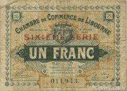 1 Franc FRANCE régionalisme et divers Libourne 1920 JP.072.30 TB