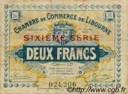 2 Francs FRANCE régionalisme et divers LIBOURNE 1920 JP.072.31 TB