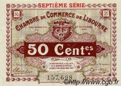 50 Centimes FRANCE régionalisme et divers Libourne 1920 JP.072.32 TTB à SUP